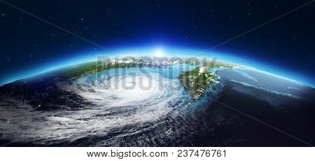 Planet Earth Geography. Elements Of This Image Furnished By Nasa. 3d Rendering