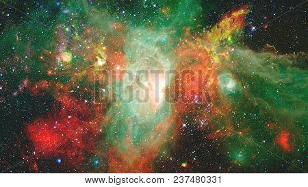 Landscape Of Star Clusters, One Million Years Old. Elements Of This Image Furnished By Nasa.