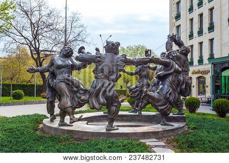 13.04.2018 Tbilisi, Georgia - Berikaoba Sculpture Statue In Tbilisi Georgia. Berikaoba Is An Improvi