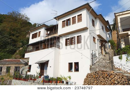 Vyzitsa village of Pelion in Greece