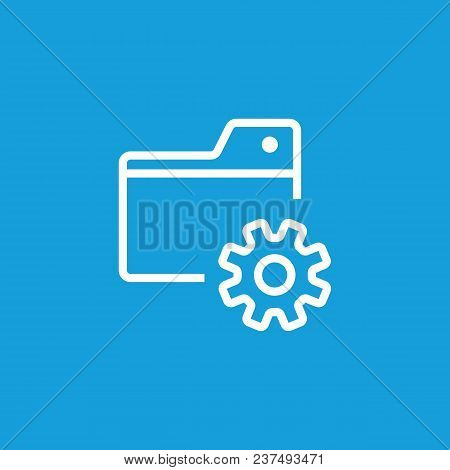 Icon Of Setting Folder. Gear Wheel, Mechanism, Files. Computer Interface Concept. Can Be Used For To