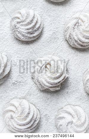Handmade White Zefir On The White Background