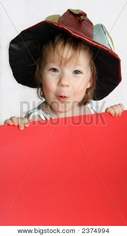 Smiling Girl With The Carnival Hat