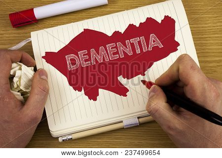 Word Writing Text Dementia. Business Concept For Long Term Memory Loss Sign And Symptoms Made Me Ret