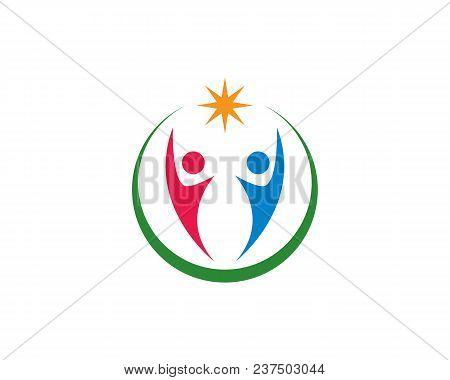 Human Character Logo Sign Illustration Vector Design,