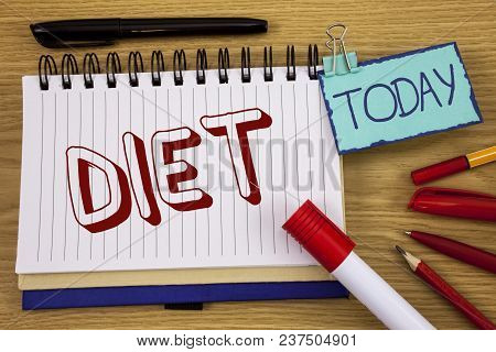 Conceptual Hand Writing Showing Diet. Business Photo Text Dietitians Create Meal Plans To Adopt And