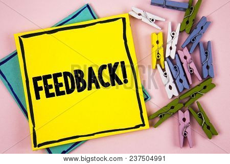 Text Sign Showing Feedback Motivational Call. Conceptual Photo Rating An Economical Local Grocery St