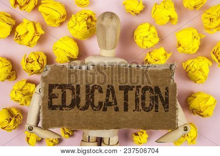 Conceptual Hand Writing Showing Education. Business Photo Showcasing Teaching Of Students By Impleme