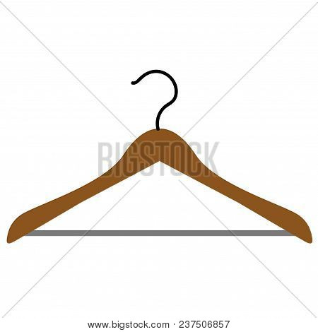 Illustration Of A Hanger. Hanger For Clothes, On An Isolated Background.