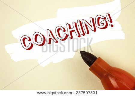 Handwriting Text Writing Coaching Motivational Call. Concept Meaning Tough Training Begins To Improv