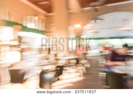 Blurred French Cafe Shop And Restaurant In Louisiana, Usa