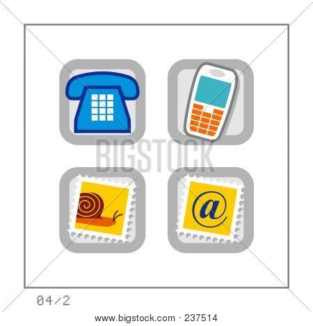 Comunicação: Icon Set 04 - versão 2