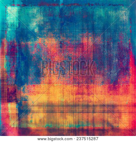 Grunge background for a creative vintage style poster. With different color patterns