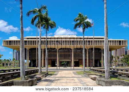 The Hawaii State Capitol Is The Official Statehouse Or Capitol Building Of The U.s. State Of Hawaii