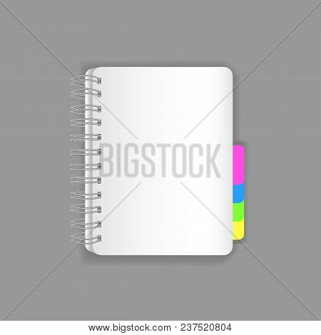 Template Vector Mock-up Blank Table Notepad, Office Book, Realistic Copy-book Sheets Of Paper. Empty