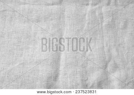 Crumpled Linen Texture Background For Overlay