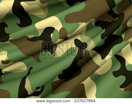 Abstract Military Camouflage Background Made Of Splash. Camo Pattern For Army Clothing. Beautiful Co