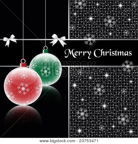 Christmas Balls On Black