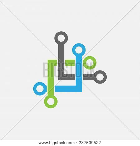 Abstract Tech Logo Concept- Vector Logo Concept Illustration Vector Logo Template.