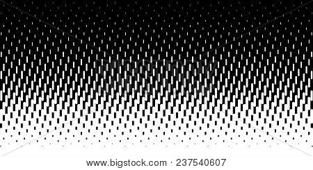 Halftone Rounded Lines Oblique Gradient Pattern Background. Vector Illustration.