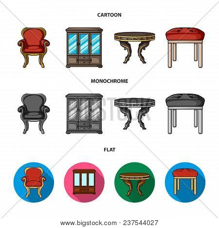 Furniture, Interior, Design, Chair .furniture And Home Interiorset Collection Icons In Cartoon, Flat