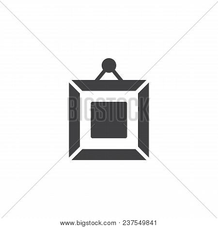 Frame Square Picture On Wall Vector Icon. Filled Flat Sign For Mobile Concept And Web Design. Art Ga