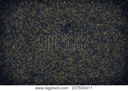 Texture Of Black Rubber Floor On Playground. ( Ethylene Propylene Diene Monomeror Epdm).
