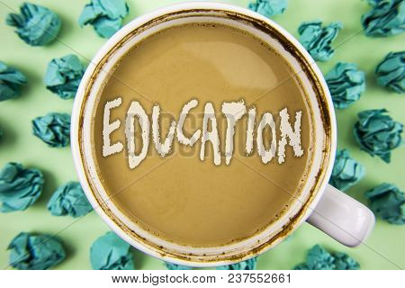 Word Writing Text Education. Business Concept For Teaching Of Students By Implementation Of Latest T