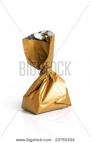 Chocolate Sweet In Golden Foil