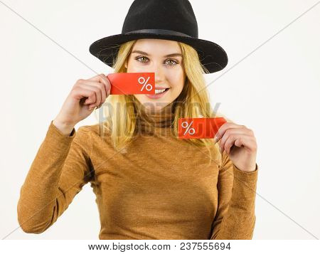 Woman After Sale Shopping