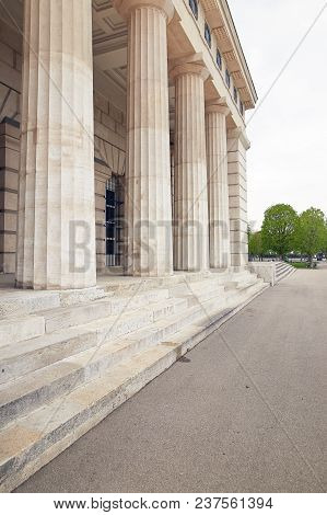 Vienna, Austria Architectural Structure With Columns And Steps