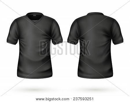 791b0c0a0 T-shirt Black Mockup Vector & Photo (Free Trial) | Bigstock