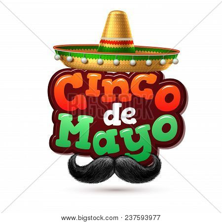 3d Cinco De Mayo Party Poster Template. Festival Traditional Mexican Holiday Celebration Design With