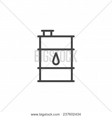 Oil Barrel Outline Icon. Linear Style Sign For Mobile Concept And Web Design. Barrel Simple Line Vec