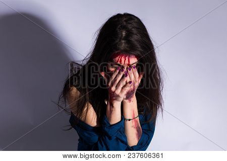 Women Violence And Abused Concept. Trafficking Concept