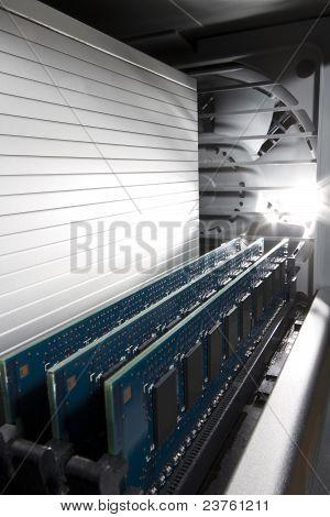 Memory Inside A Computer Workstation