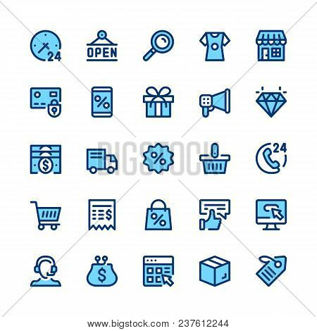 Ecommerce, Internet Commerce, Online Shopping Line Icons Set. Modern Graphic Design Concepts, Simple