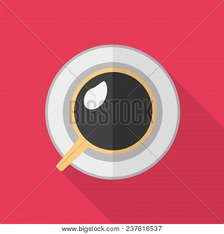 Flat Icon - Coffee Cup. Vector Illustration.