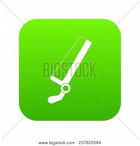 Surgical Saw Icon Digital Green For Any Design Isolated On White Vector Illustration