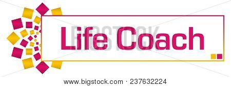 Life Coach Text Alphabets Written Over Blue  Colorful Background.