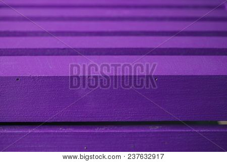 Purple Wood Texture And Background. Closeup View Of Purple Wood Surface Textured. Abstract Backgroun
