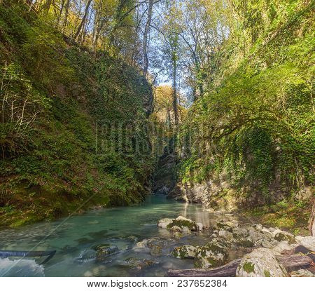 Gorge Of The Canyon King's Gate. Sochi National Park.