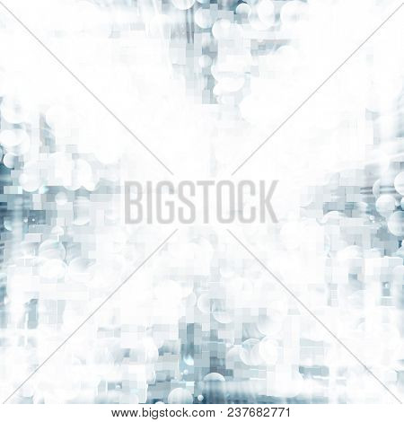 abstract background of silver squares and stripes
