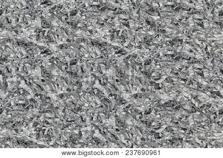 Closeup Of Gray Shredded Paper Texture For Packing Or Gifting, Seamless Tiling Texture