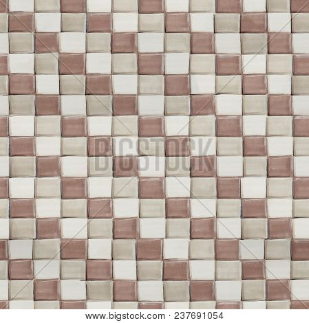 Modern Geometrical Hand Drawn Pattern With Squares, Seamless Tiling Texture