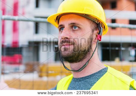 Building Construction Worker Engineer Posing