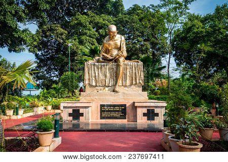Mahatma Gandhi. The Landmark Monument In Port Blair Andaman And Nicobar Islands, India, 26 January 2