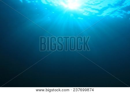 Underwater blue ocean background
