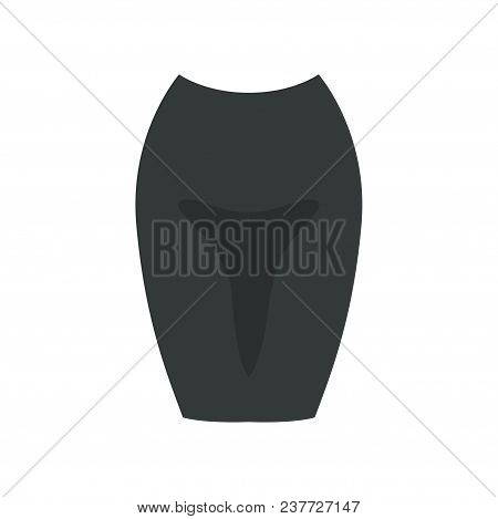 Black Skirt, Womens Business Clothing Vector Illustration Isolated On A White Background.