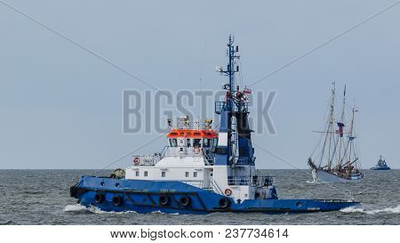 Sailing Vessel - Polish Yacht On The Sea